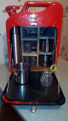 Coffee tea jerry can bar /mini bar/ camping/ stag / man cave picnic