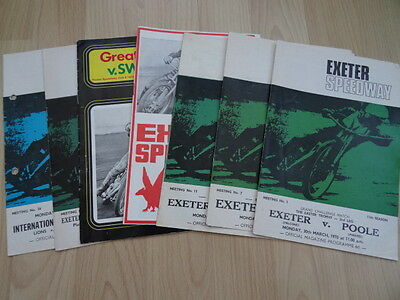 EXETER SPEEDWAY PROGRAMMES (x7) (1970) - LISTED
