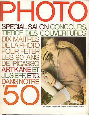Magazine PHOTO N°50 - Novembre 1971 - PICASSO - Jeanloup SIEFF