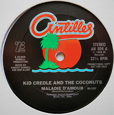 """12"""" Us**kid Creole & The Coconuts - Maladie D'amour (Antilles '80/ Promo)**23161"""
