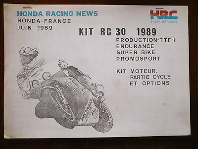 Manuel Hrc Catalogue Kit Racing Honda Rc 30  1989
