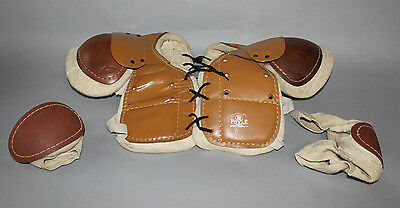 Antique Vintage 1930's-40's Polar Sporting Goods Hockey shoulder elbow pads