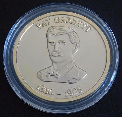 Pat Garrett Collectible Gunfighter Coin - CLAD IN Gold -- Made In USA