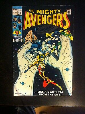 The Avengers #64 VG+ 1969 Silver Age Marvel Comic
