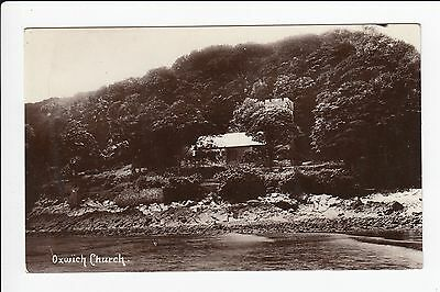 Oxwich Church Swansea Glamorgan South Wales Real Photo Postcard