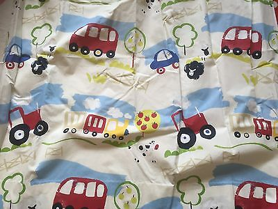 Hand Made Childrens Black Out Curtains Farm Yard/tractor Design & Cushion Covers