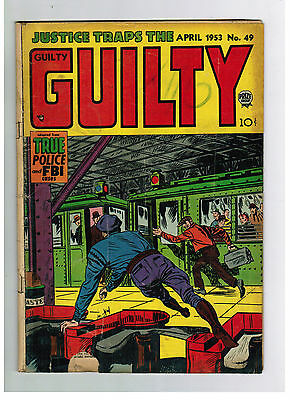 JUSTICE TRAPS THE GUILTY COMIC No. 49 from 1953