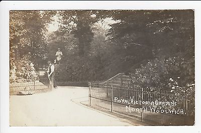 Royal Victoria Gardens ( Gardiner ) North Woolwich London Real Photo Postcard