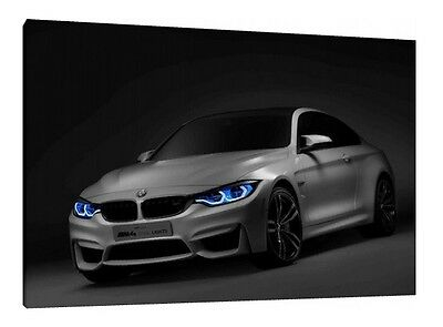 BMW M4 - 30x20 Inch Canvas - Framed Picture Print Wall Art
