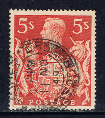 Great Britain #250(6) 1939 5 shilling George VI & Royal Arms MANCHESTER CV$2.25