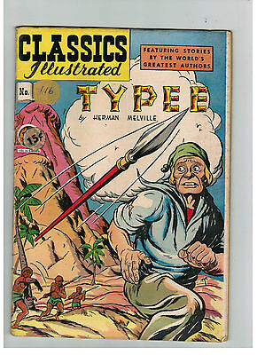 CLASSICS ILLUSTRATED COMIC No. 36 TYPEE HRN 64