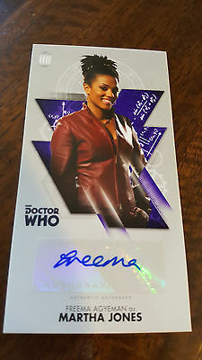 2016 Topps Doctor Who Widevision Signed Card Freema Agyeman As Martha Jones