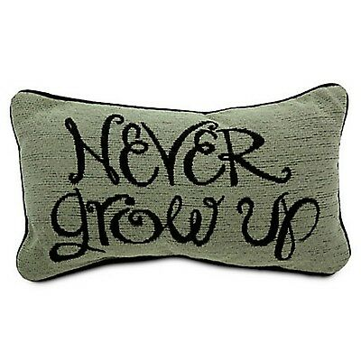 Never Grow Up Peter Pan Throw Pillow Disney World Theme Parks NEW