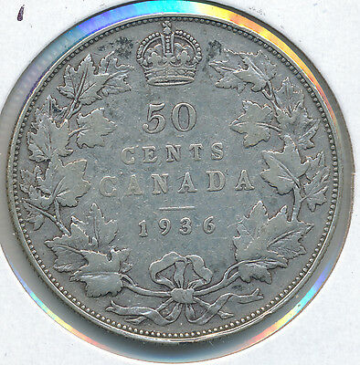 Canada 50 Cents 1936 - VG