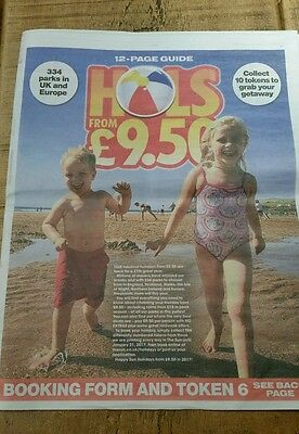 The Sun Holidays From £9.50 - 12 Page Booking Guide/form And All 10 Tokens