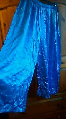 Vintage style shiny satin wide leg pyjama trousers - cosplay, theatre