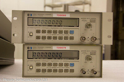 2 x HP5384A Frequency counters. One with rack mount.