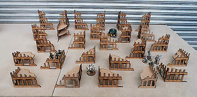 Wargames scenery 26 Ruined Buildings Warhammer 40K 28mm Bolt Action Terrain B