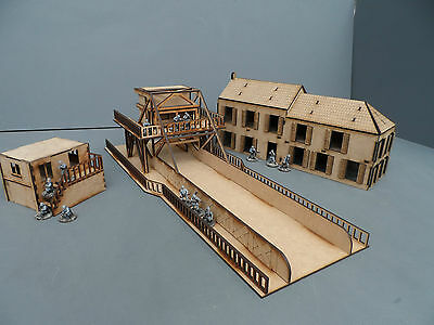 Wargames Terrain WW2 28mm scenery Pegasus Bridge Full Set Kit Bolt Action, 40K B