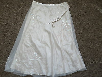 COAST  polyester double layer beaded  skirt  size 10