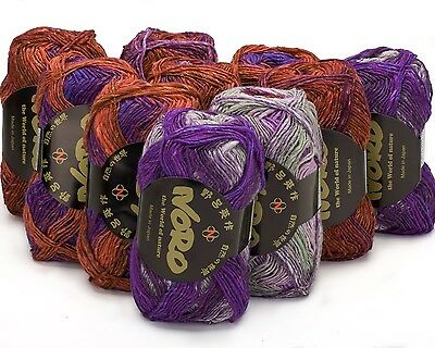 10 x 50g Multicoloured Noro Silk Garden 4Ply - sh 389
