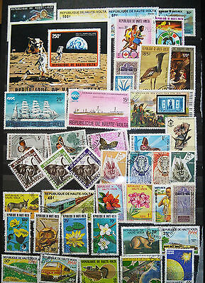 Mini Sheet And Stamps From Upper Volta (See Scan)