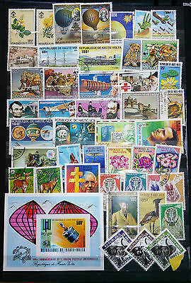 Collection Of Stamps From Upper Volta, Including Mini Sheet (See Scan)