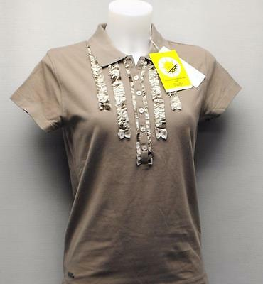 New Ladies Daily Sports cocoa cotton spandex cap sleeves blouse golf top Med