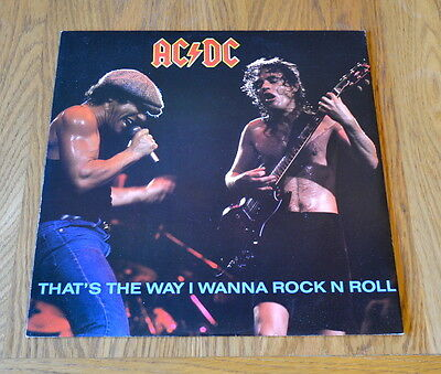 "AC/DC 'That's The Way I Wanna Rock N Roll' 1988 12"" / Atlantic A9098(T)"