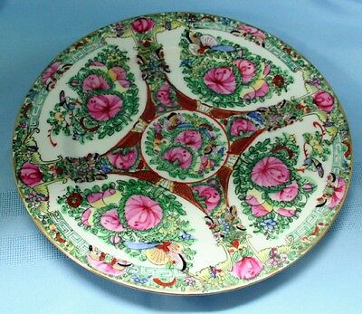 Intricately decorated oriental china plate