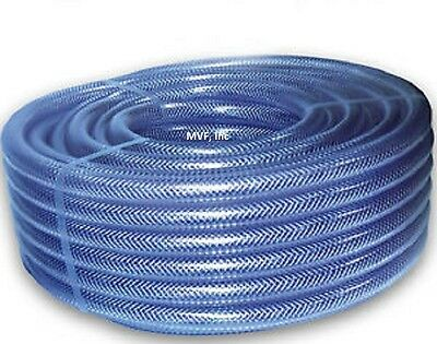 "TUBING, BRAIDED PVC CLEAR 1/2"" ID x 0.75"" OD x 48ft, FDA APPROVED   410.050x48"