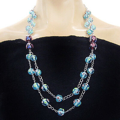Coloured Glaze Hand-crocheted Necklace BT700107
