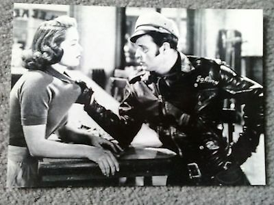 Marlon Brando Mary Murphy Postcard Film Photo The Wild One B/w