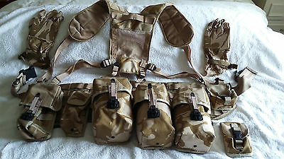 Desert Pattern Webbing With Pouches,gloves And Helmet Cover