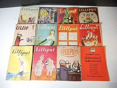 Lot Of 12 Vintage Issues - Lilliput Magazine 1949 - 1950 - London
