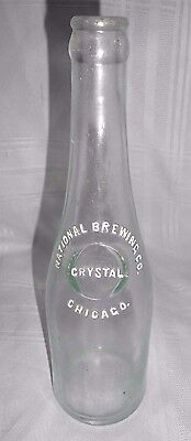 Vtg National Brewing Co Chicago ILL Crown Top Beer Bottle IL Illinois Crystal