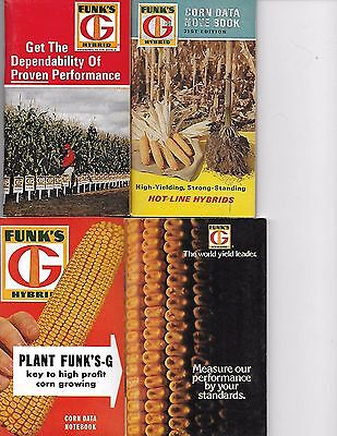 4 FUNK'S G HYBRID note books   mid 60's to late 70's  (Lot of 4)