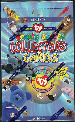 TY Beanie Babies Collector Trading Cards 1st Edition Series 2 Sealed Box - 1999