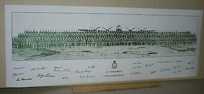 617 Squadron 'The DAMBUSTERS' & Aircrew SIGNATURES & Avro LANCASTER 27 x 10 ins
