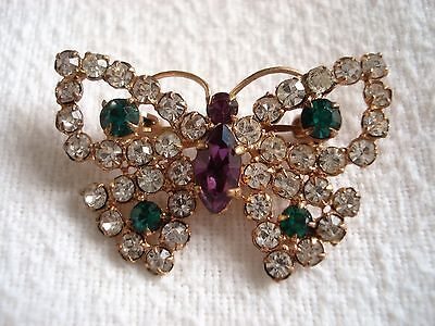 Vintage Suffragette Edwardian Butterfly Lace Pin Brooch Old Insect Jewellery