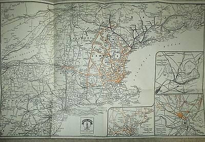 "Vintage Railroad  Map Boston & Main RR 1940's 12"" x 19"""