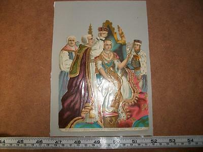 Large Queen Victoria Scrap Coronation in Westminster Abbey Raphael Tuck / Payne