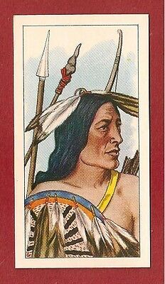 Native American Chase in the Morning Tribal Chief  Tea card 1962