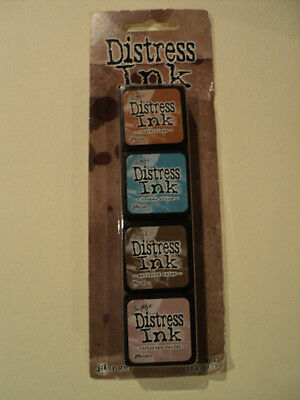 Tim Holtz Distress Ink Mini Pack Tdpk40361 #6 4 Mini Ink Pads Bnip *look*