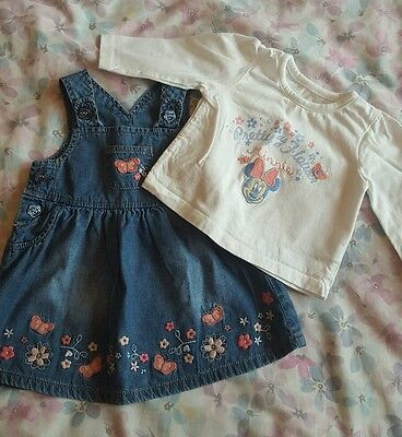 baby girl dungaree dress 0-3 month