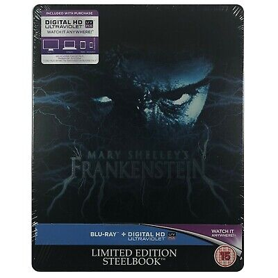 Mary Shelley's Frankenstein Steelbook - UK Exclusive Limited Edition Blu-Ray