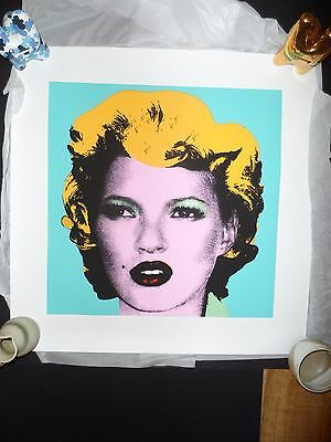 BANKSY - KATE MOSS - Blue COLOURWAY - SCREEN PRINT. Limited to 60