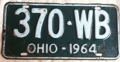 Vintage 1964 Ohio License Plate Auto Car Tag