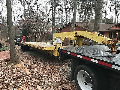 32 Foot gooseneck  Dual Axle Tandem Flat Bed Trailer With Ramps