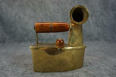 Vintage Brass Iron With Wooden Handle